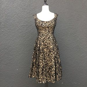 Black and Ivory Lace Dress